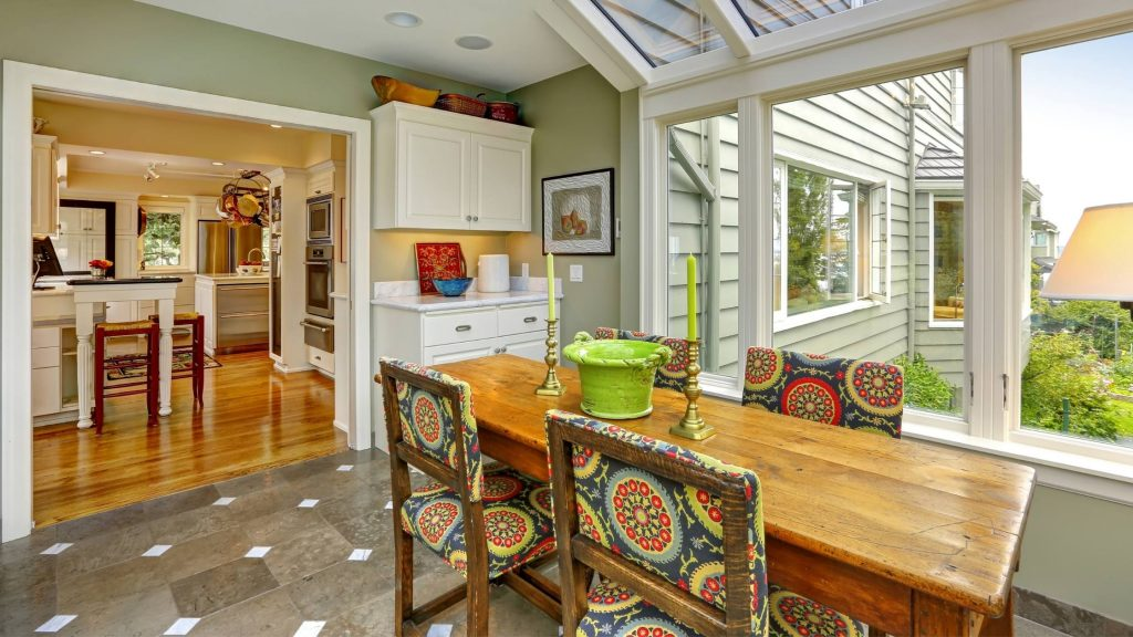 sunroom for Extended Dining