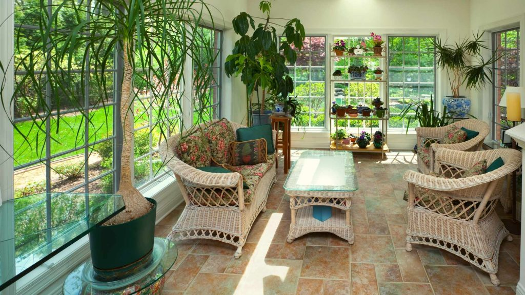 Plants and the green touch in sunrooms