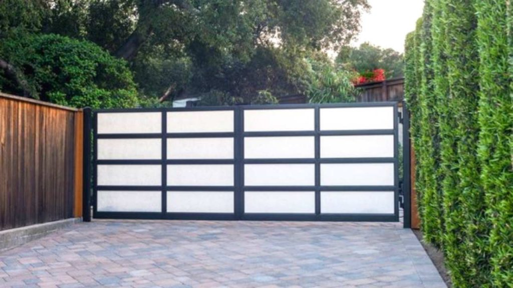 Luxe Frosted Glass design gates for home